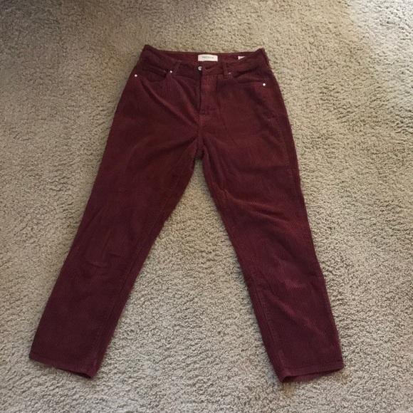 PacSun Pants - Burgundy Corduroy Pants